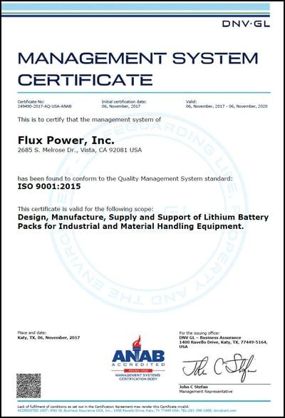 flux-power-management-system-cert-ISO-9001-2015