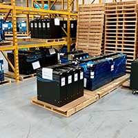 forklift battery weight