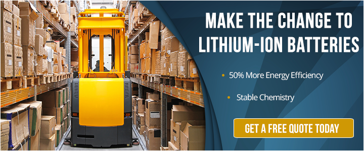 lithium-ion forklift battery for narrow aisle forklift