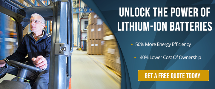 Lithium-ion batteries for forklifts
