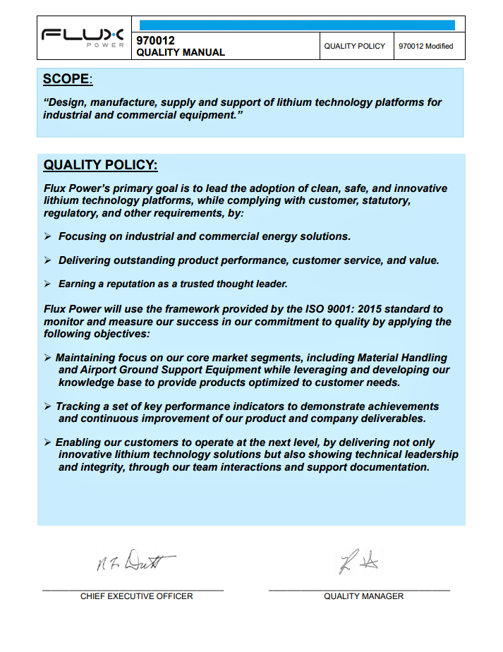 Quality-Manual-Website